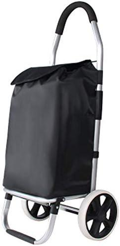 ハンドカート、食料品ショッピングカート、トロリー、荷物用トロリー、アルミ合金製折りたたみ式ポータブルショッピングカート、50kgの負荷