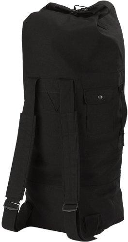 Rothco Gi Style Canvas Double Strap Duffle Bag, Black