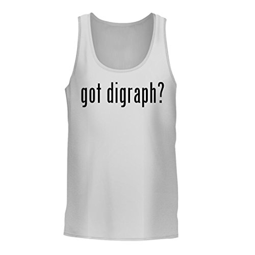 got digraph? - A Nice Men's Tank Top, White, (Vowels Funny Phonics Puzzle)
