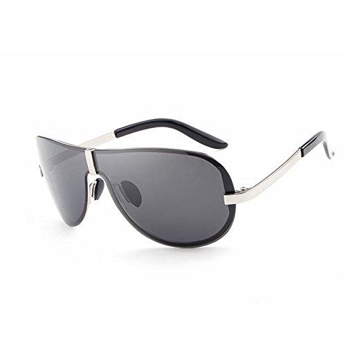 Gafas de Sakuldes Silver clásicas Gafas Lens01 Sol Gafas Marco Moda sin polarizadas Sol de Silver Frame Frame de Hombres Gafas Sol Black Color Lens01 de Black dFrqFz