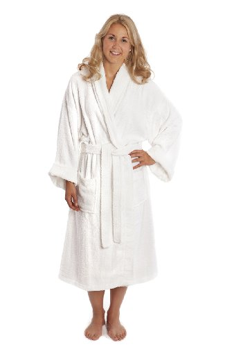 Luxury Shawl Collar Toweling Robe. Bathrobe. 100 % Cotton Terry. A Great Value!