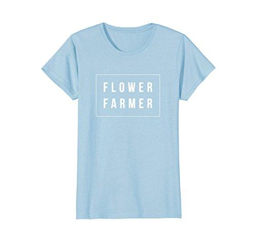 Blue Florists - Womens Flower Farmer T-shirt Medium Baby Blue