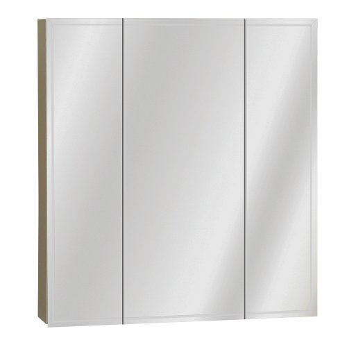 Zenith M24, Beveled Tri-View Medicine Cabinet, Frameless (24 Inch Surface Mount)