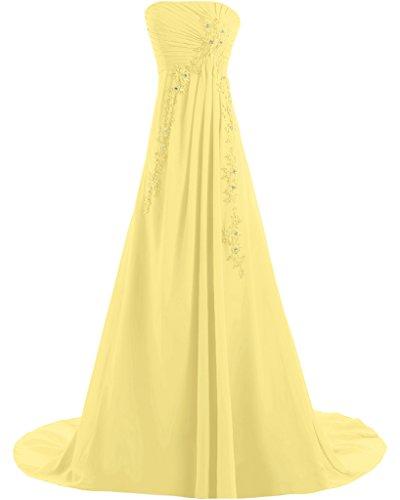 Missdressy - Vestido - trapecio - para mujer amarillo 34