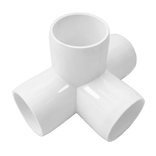 4 Way 1inch Tee PVC Fitting Elbow 1in - Build Heavy Duty PVC Furniture - PVC Elbow Fittings [Pack of 8] by SELLERS360 (Image #2)