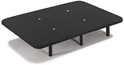 HOGAR24 ES Base tapizada 180 x 190 Reforzada con 12 Patas metálicas Alto 26 cm, tapizado 3D Color Negro + 4 válvulas de transpiración (2 Bases De 90cm ...