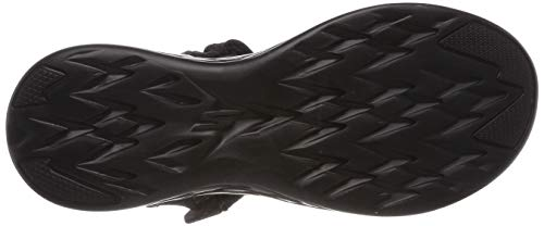 Negro Abierto Mujer black Talón Sandalias Skechers 600 On the Bbk De go rubix Para wwxP78v