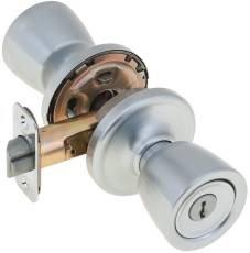 Kiwkset 803355 Abbey Signature Series Vestibule Locksets, Satin Chrome