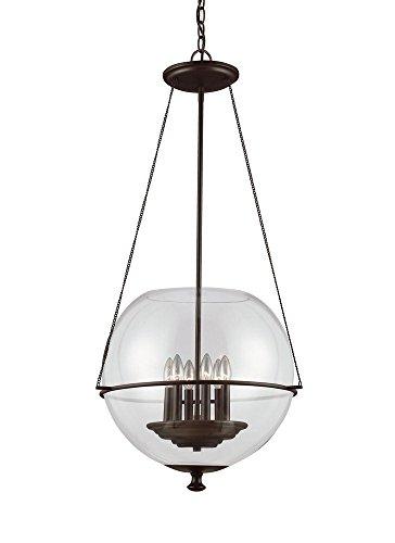 Sea Gull Lighting 6511906-715 Havenwood Six-Light Pendant with Clear Glass, Autumn Bronze Finish 21' Tall Lamp