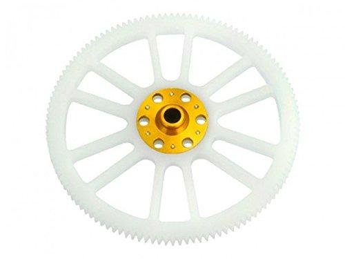 Microheli CNC Delrin Main Gear w/ Hub set (GOLD) - BLADE 200 SRX / 200 S - Delrin Main Gear
