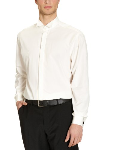 Jacques Britt - Camisa regular fit de manga larga para hombre Crema 002