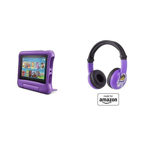 Fire 7 Kids Tablet 16GB Purple with Playtime (Ages 3-7) Bluetooth Headset