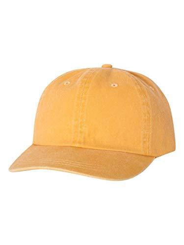 Mega Cap Men's Unstructured Pigment Dyed Garment Washed Cap, Mango, One Size ()