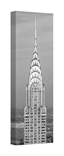 Easy Art Prints Panoramic Images's 'Chrysler Building at Sunset. It is The View from 42nd Street and 5th Avenue.' Canvas Art 24 x 8