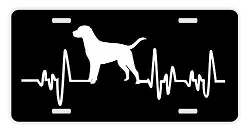 (ThisWear Labrador Retriever License Plate Dog Lover Heartbeat Labrador Retriever Accessories Labrador Retriever Lovers Gifts Labrador Mom Labrador Dad Rescue Labrador Novelty License Plate Black )