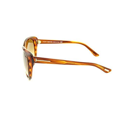 Tom Ford Malin Sunglasses Light Havana FT0230 65F 61 Orange (Orange 65F)