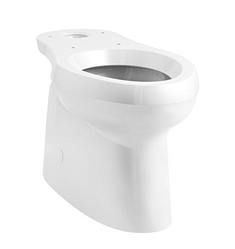 KOHLER 5309-0 Cimarron Skirted Trapway Comfort Height Elongated Toilet Bowl, (Height Complete Solution Elongated Toilet)