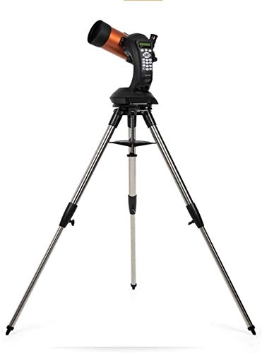 Dpliu Telescope Portable Refractor Telescope, Stainless Steel Tripod, Fixed Equatorial Wedge,9 Speeds,for Kids Beginners, with Adjustable Tripod