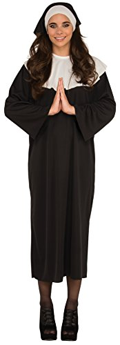 Rubie's Costume Haunted House Collection Nun, Black, One Size (Religious Costumes For Adults)