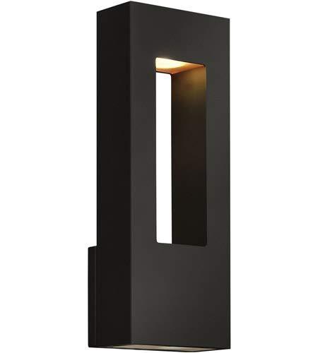 Amazon.com: 2 lámparas de pared con acabado negro satinado ...