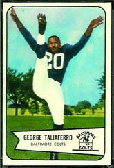 1954 Bowman Regular (Football) Card# 50 George Taliaferro of the Baltimore Colts Ex Condition ()