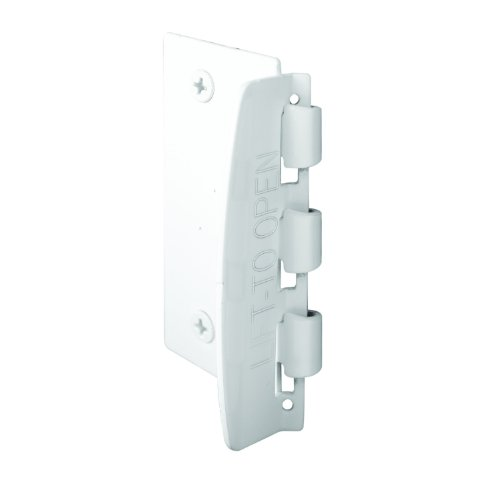 Prime-Line U 9888 Flip Action Door Lock - Reversible White Privacy Lock with Anti-Lock Out Screw for Child Safe Mode, 2-3/4