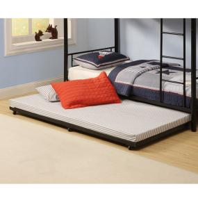 Walker Edison Twin Roll Out Trundle Bed Frame Black Amazonca