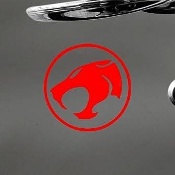 Auto portátil Art Decor Adhesivo Coche Thunder gatos coche arte de pared vinilo adhesivo decoración del hogar bicicleta portátil Die Cut decoración Macbook ...