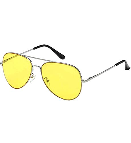 Aviator Classic Sunglasses Silver Frame Colored Lens