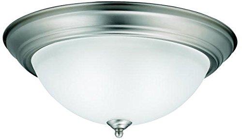 (Kichler 8116NI Flush Mount Round Glass Ceiling Lighting, Brushed Nickel 3-Light (16