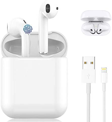 Wireless Earbuds, Bluetooth 5.0 Wireless Earbuds,with [ 24Hrs Charging Case ] IPX5 Waterproof, 3-D Stereo in-Ear Ear Buds Built-in Mic, Suitable for iPhone Airpods/Android