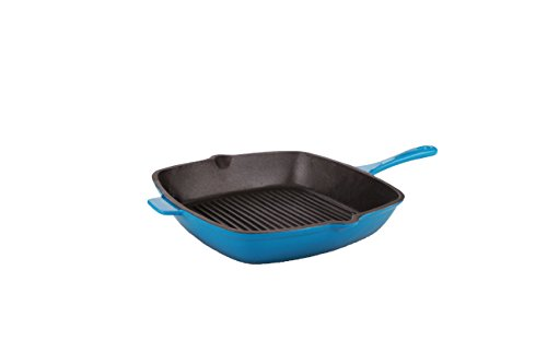 Berghoff Neo 11 Cast Iron Grill Pan Blue, Blue