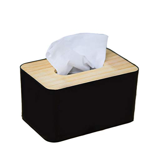 NszzJixo9 Wooden Tissue Box European Style Home Tissue Container for Office Decoration,Roll Paper Box Waterproof Bathroom Punch-Free Toilet Tissue Tray Paper Rack