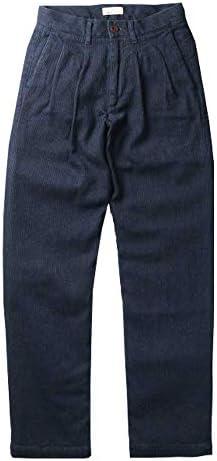 ジャパンブルー ジーンズ MADE IN JAPAN 「 インディゴ 刺し子 2タック ワイド トラウザー パンツ 」 ツータック タックパンツ メンズ J802921