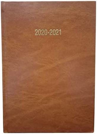 Tan A5 Size Page-a-Day 2020-21 Academic Diary by Imprint Press