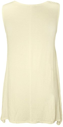 AHR_Manchester_LTD - Camiseta sin mangas - Túnica - Básico - para mujer crema