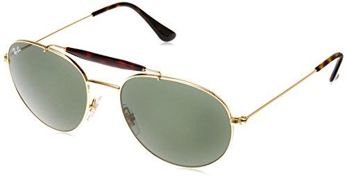 Ray-Ban Women's Highstreet Aviator Sunglasses, Gold/Green, One - Ban Highstreet Gold Ray