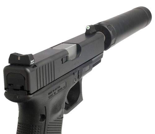 XS Sight Systems DXT Big Dot for Glock, Suppressor Height, GL-0004S-5
