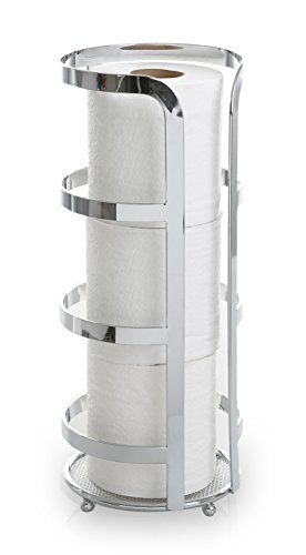 BINO 'The Gladiator' Toilet Paper Reserve, Chrome (Chrome Toilet Paper Caddy)