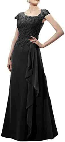 032fb485421 Springplus Women s Appliques Mother of The Bride Dress Cap Sleeves Formal  Evening Dress for Wedding