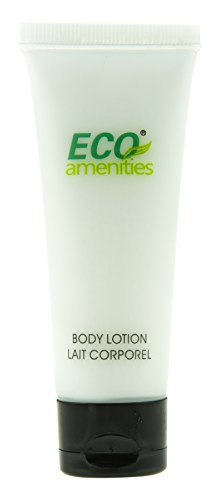 ECO AMENITIES Travel size 1.1oz hotel body lotion in bulk, Clear, Green Tea, 200 Count ()