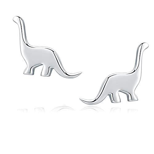 Girls Earrings Hypoallergenic 925 Sterling Silver Stud Earrings, Nickel-Free for Sensitive Ears ()