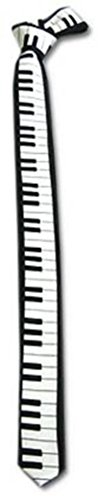 - Piano Keyboard Key Board TIE Necktie for 80's Party Dj