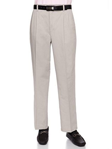 - AKA Mens Wrinkle Free Chino Casual Pants - Traditional Fit Slacks Pleated-Front Chino Casual Pants Cotton Twill Stone 40 Medium