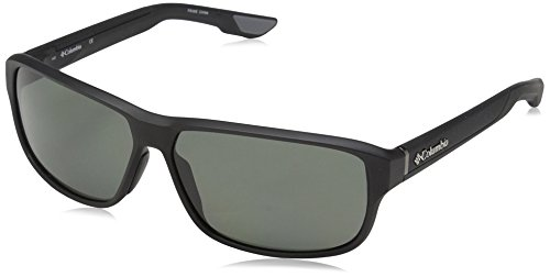 Columbia Men's Ridgestone P Polarized Rectangular Sunglasses, Matte Black, 62 - Columbia Sunglasses