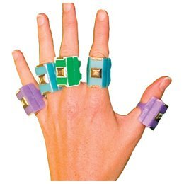 Semmon Preston CanDo Finger Weights,Multicolored, Set of 10 by Cando