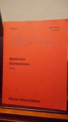 Klavierstücke. Piano Pieces. Revidiert nach dem Autograph und mit Fingersätzen versehen von ... Alfred Brendel (Wiener Urtext Ausgabe) ()