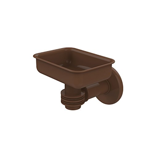 Allied Brass 2032D-ABZ Continental Collection Wall Mounted Soap Dish Holder with Dotted Accents Antique Bronze
