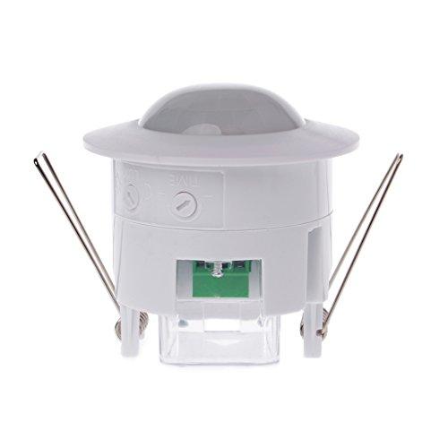 PoityA 110-240V AC Adjustable 360° Ceiling PIR Infrared Body Motion Sensor Detector Lamp Light Switch