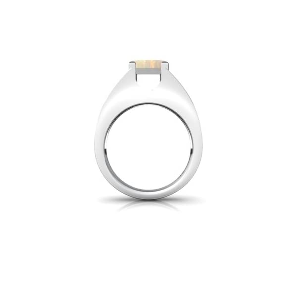 14kt-Gold-Opal-9x7mm-EmeraldCut-Mens-Ring